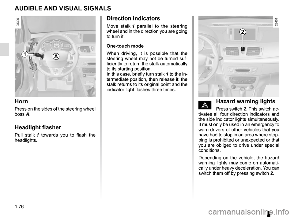 RENAULT MEGANE COUPE 2015 X95 / 3.G Owners Manual, Page 82