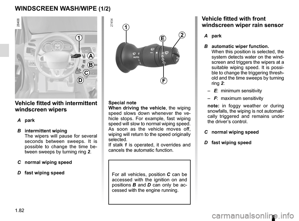 RENAULT MEGANE COUPE 2015 X95 / 3.G Owners Manual, Page 88