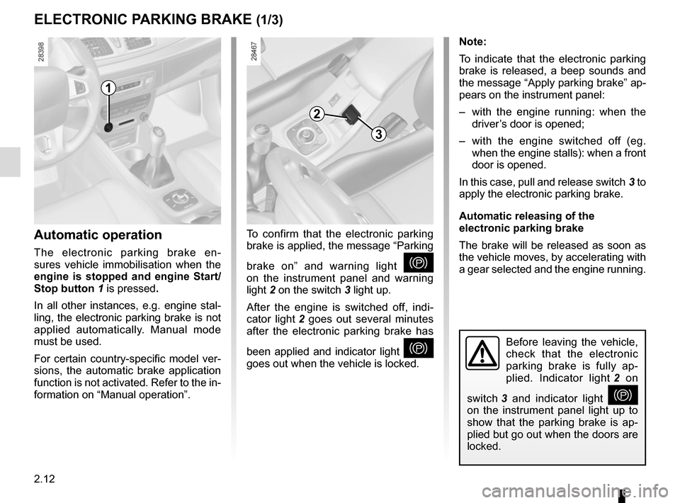 RENAULT MEGANE HATCHBACK 2015 X95 / 3.G Owners Manual, Page 106