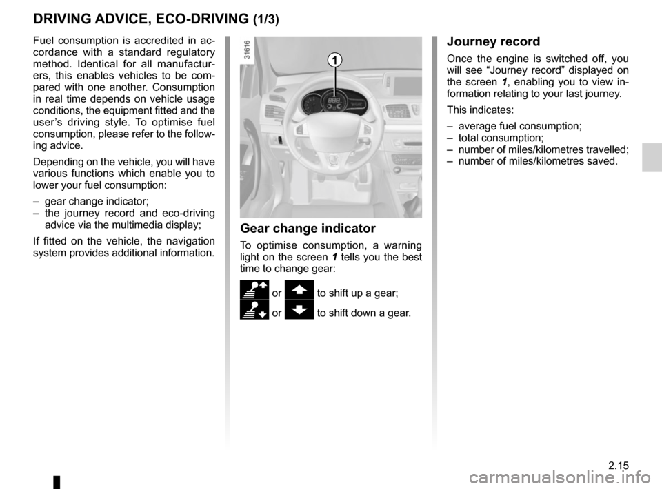 RENAULT MEGANE HATCHBACK 2015 X95 / 3.G Owners Manual, Page 109