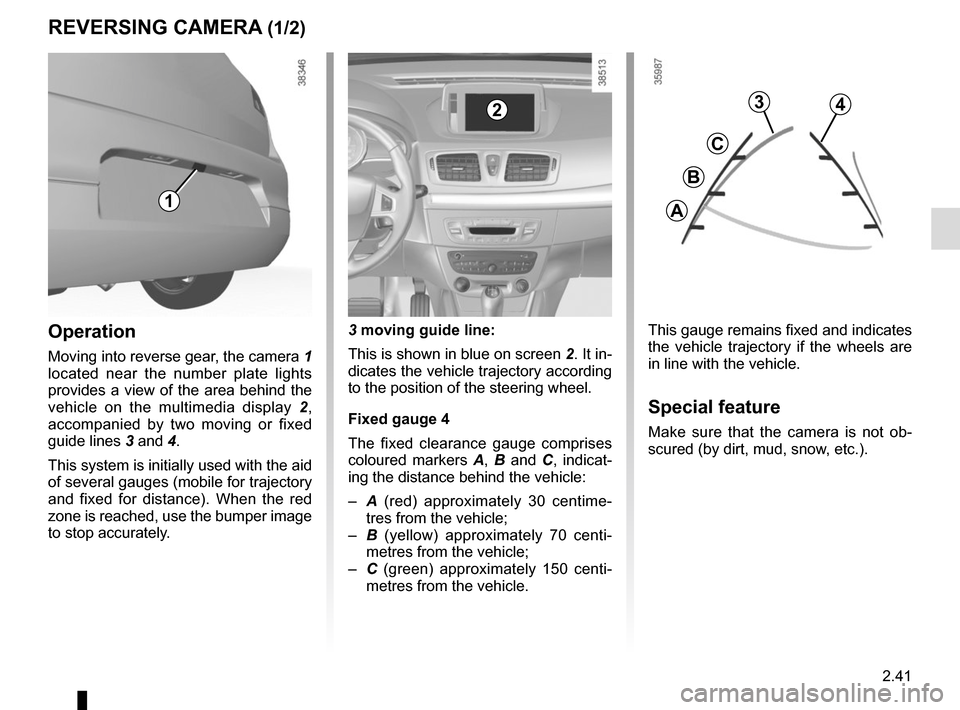 RENAULT MEGANE HATCHBACK 2015 X95 / 3.G Owners Manual, Page 135