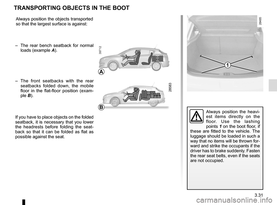 RENAULT MEGANE HATCHBACK 2015 X95 / 3.G Owners Manual, Page 171