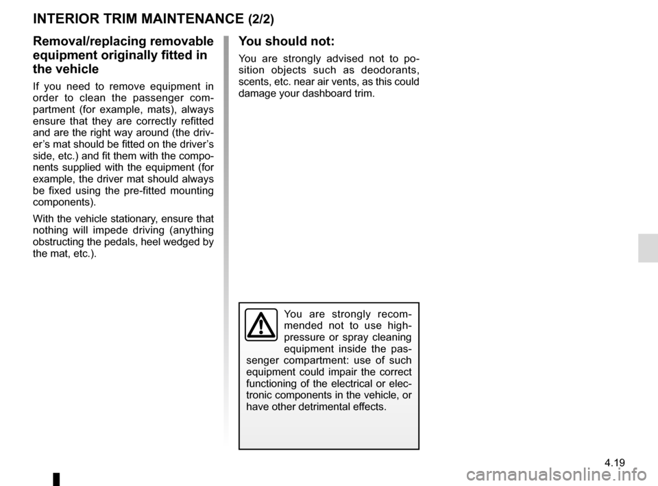 RENAULT MEGANE HATCHBACK 2015 X95 / 3.G Owners Manual, Page 195