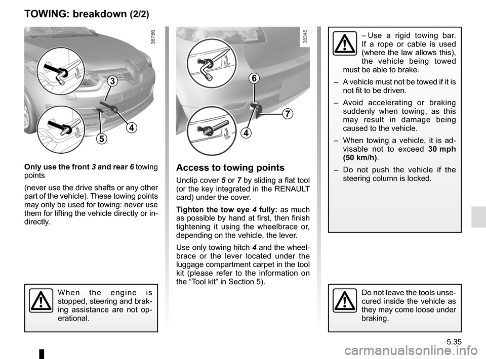 RENAULT MEGANE HATCHBACK 2015 X95 / 3.G Owners Manual, Page 231