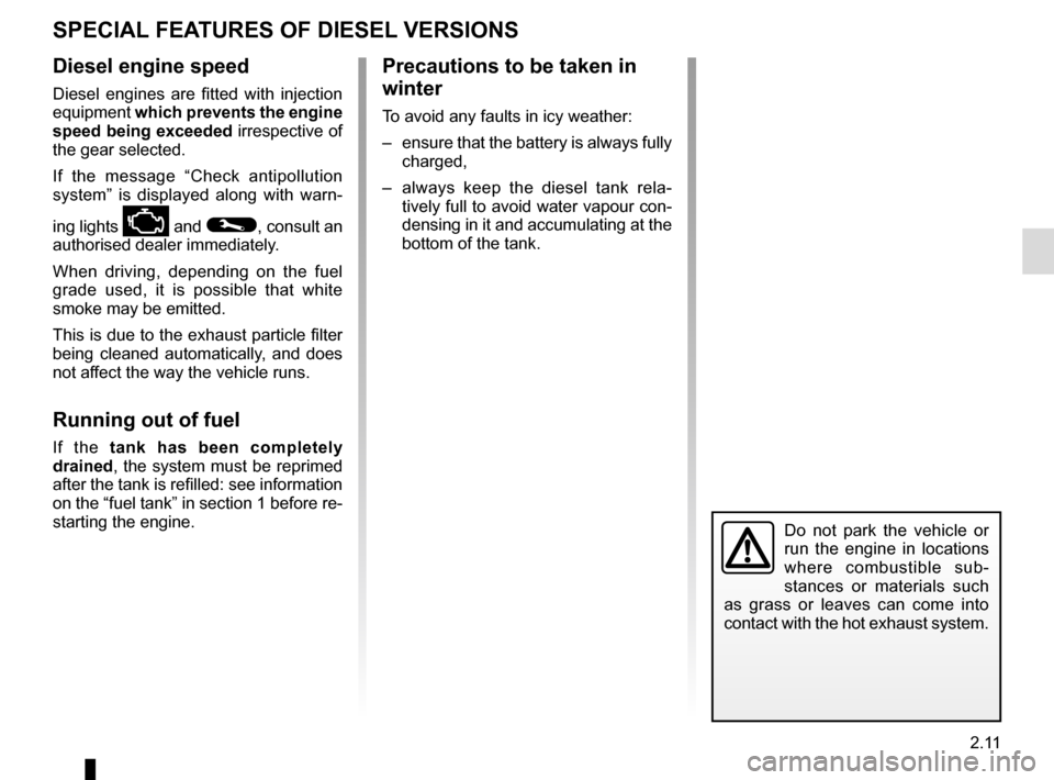 RENAULT SCENIC 2015 J95 / 3.G Owners Manual, Page 103