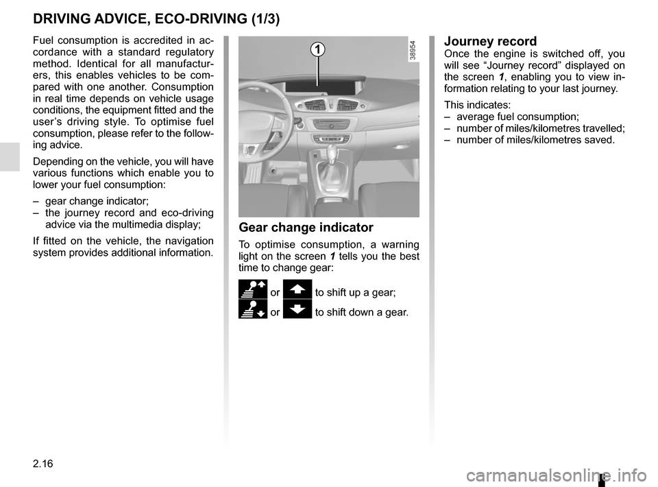 RENAULT SCENIC 2015 J95 / 3.G Owners Manual, Page 108