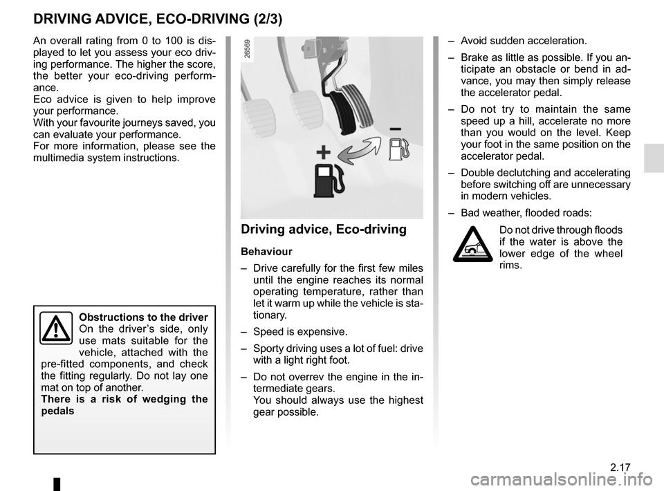 RENAULT SCENIC 2015 J95 / 3.G Owners Manual, Page 109