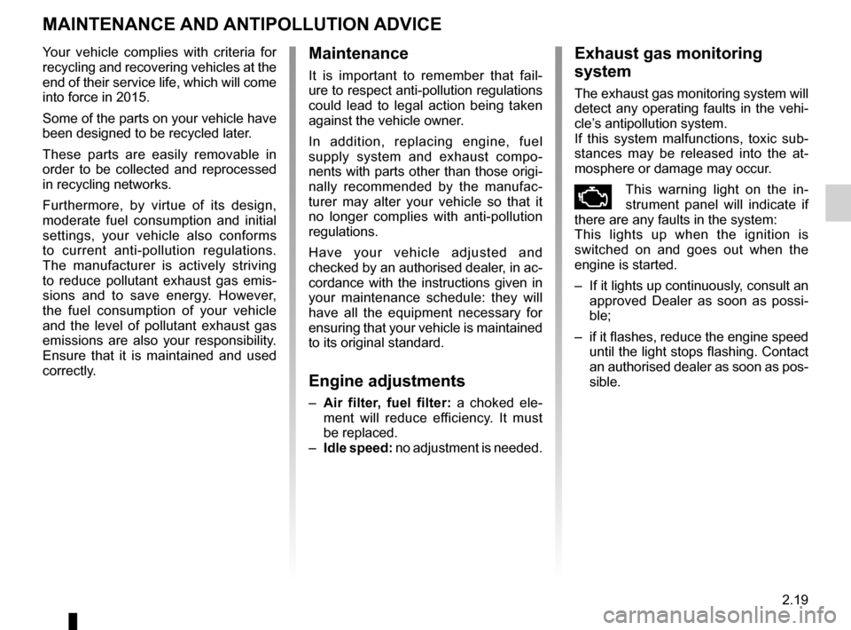 RENAULT SCENIC 2015 J95 / 3.G Owners Manual, Page 111
