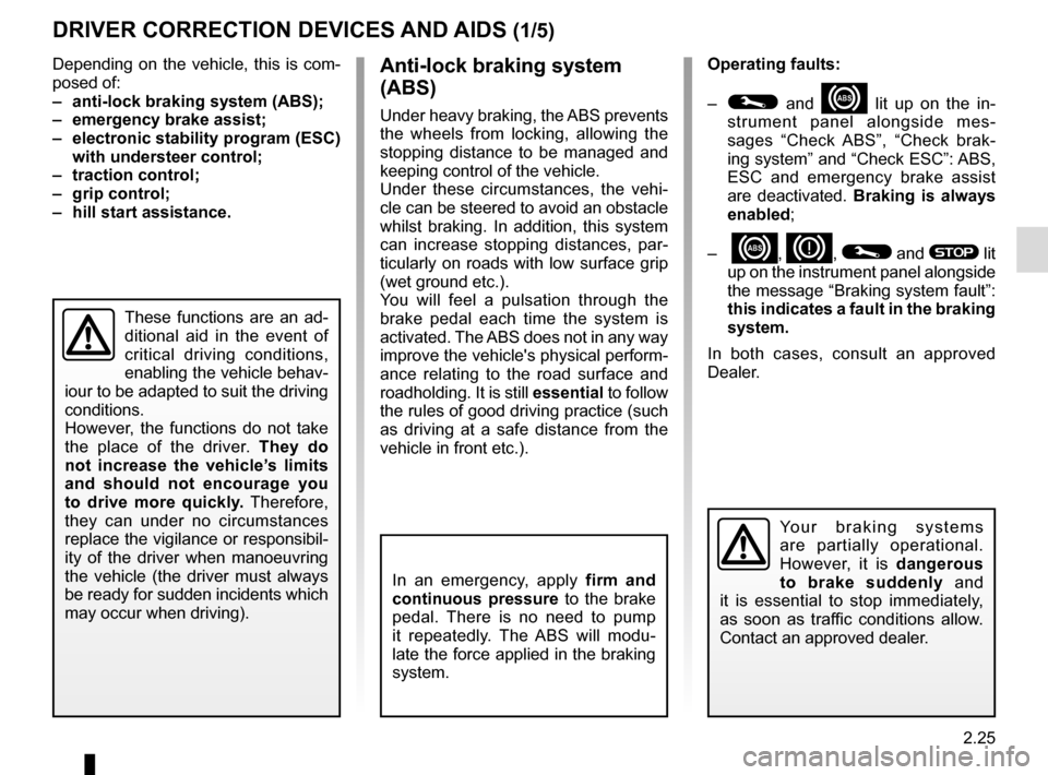 RENAULT SCENIC 2015 J95 / 3.G Owners Manual, Page 117