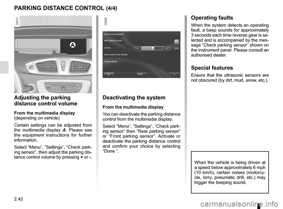 RENAULT SCENIC 2015 J95 / 3.G Owners Manual, Page 134