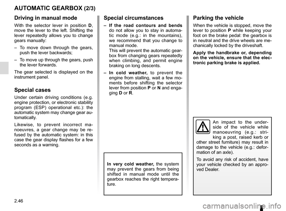 RENAULT SCENIC 2015 J95 / 3.G Owners Manual, Page 138