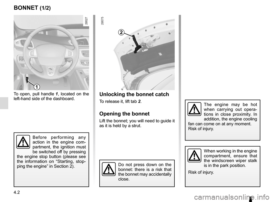 RENAULT SCENIC 2015 J95 / 3.G Owners Manual, Page 184