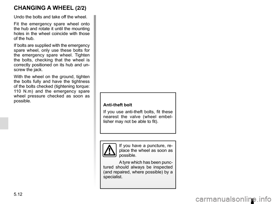 RENAULT SCENIC 2015 J95 / 3.G Owners Manual, Page 212