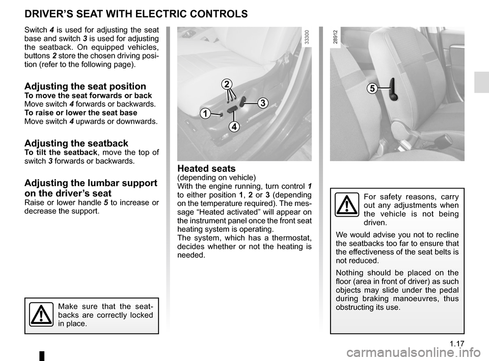 RENAULT SCENIC 2015 J95 / 3.G Owners Manual, Page 23
