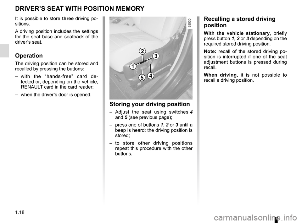 RENAULT SCENIC 2015 J95 / 3.G Owners Manual, Page 24