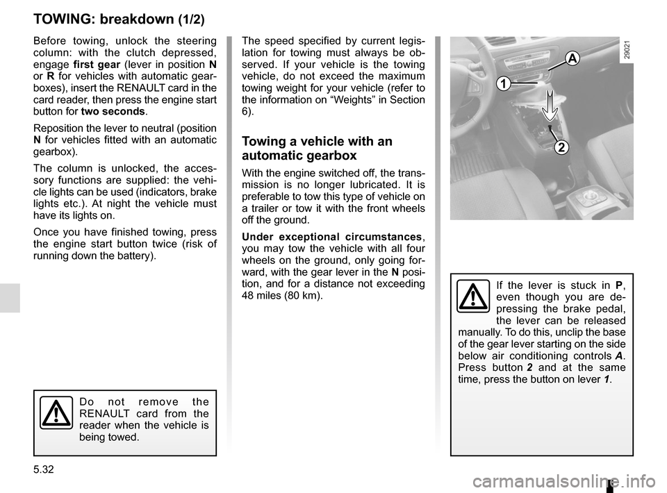 RENAULT SCENIC 2015 J95 / 3.G Owners Manual, Page 232