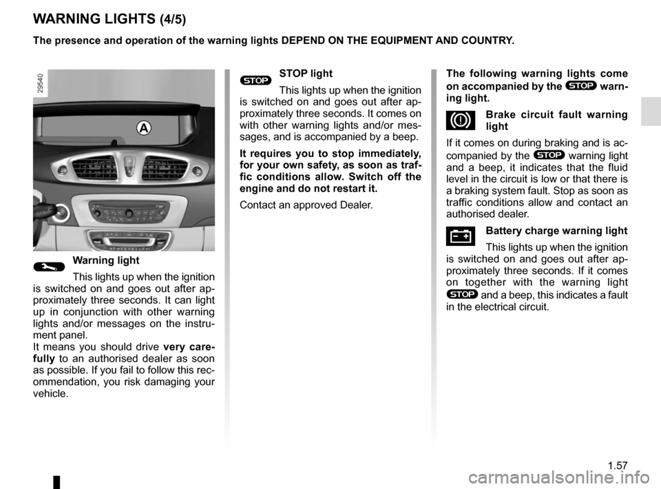 RENAULT SCENIC 2015 J95 / 3.G Owners Manual, Page 63