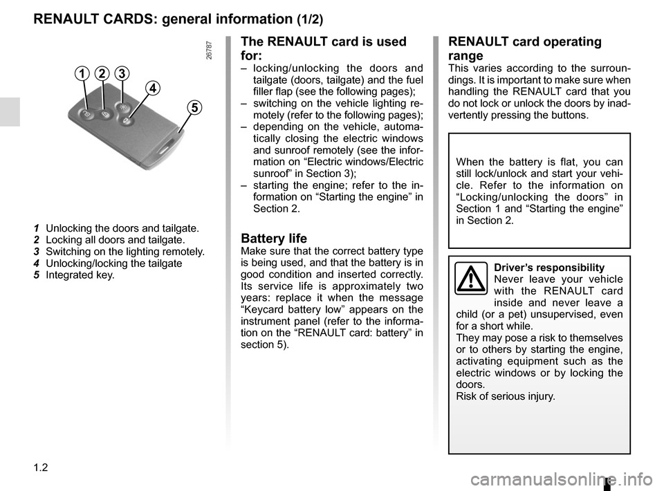 RENAULT SCENIC 2015 J95 / 3.G Owners Manual, Page 8