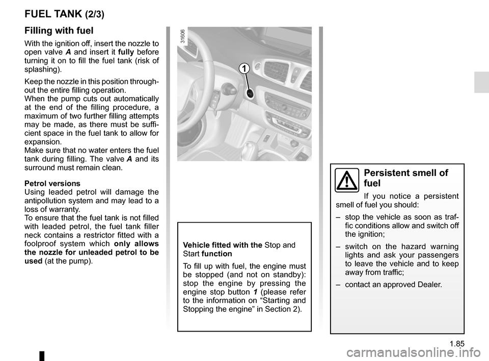 RENAULT SCENIC 2015 J95 / 3.G Owners Manual, Page 91
