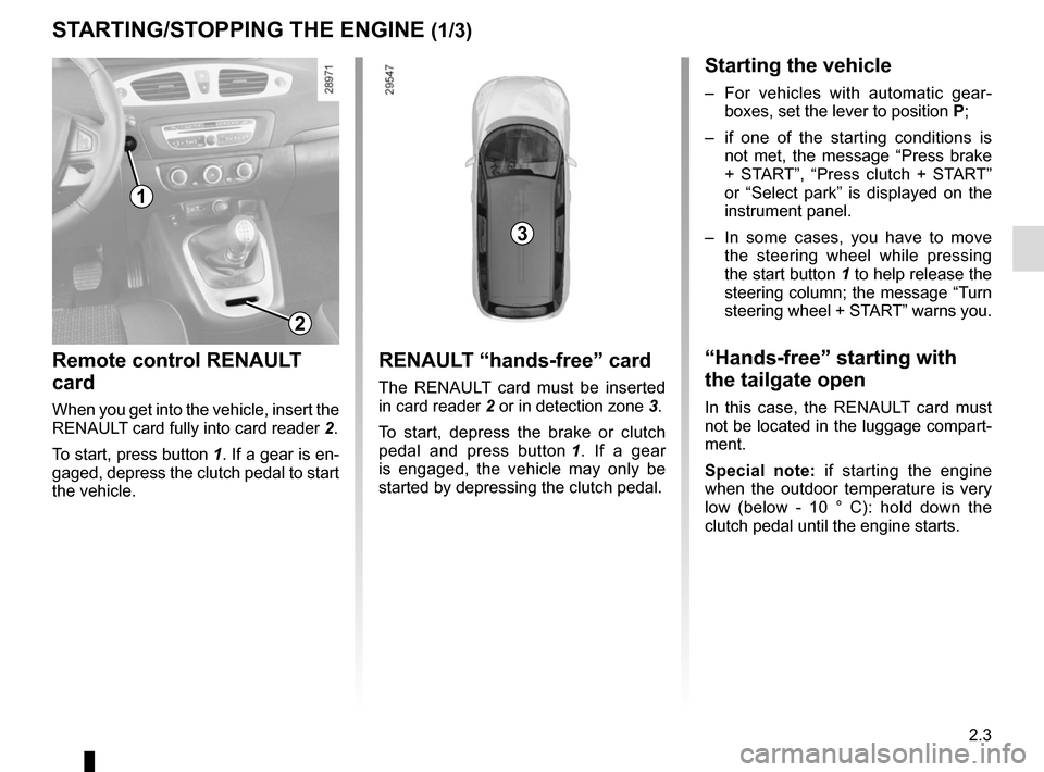 RENAULT SCENIC 2015 J95 / 3.G Owners Manual, Page 95
