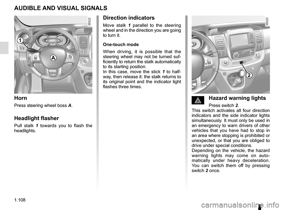 RENAULT TRAFIC 2015 X82 / 3.G Owners Manual, Page 114