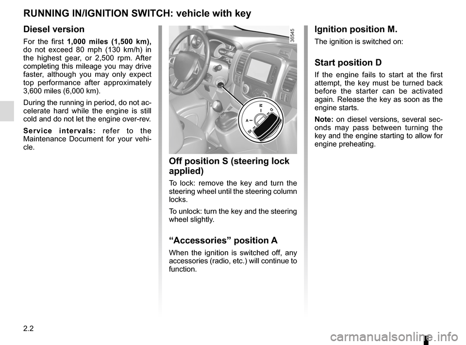 RENAULT TRAFIC 2015 X82 / 3.G Owners Manual, Page 126