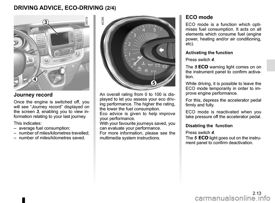 RENAULT TRAFIC 2015 X82 / 3.G Owners Manual, Page 137