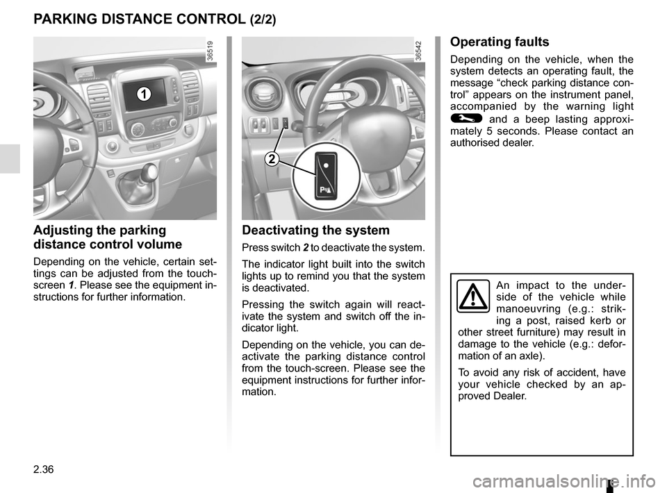 RENAULT TRAFIC 2015 X82 / 3.G Owners Manual, Page 160