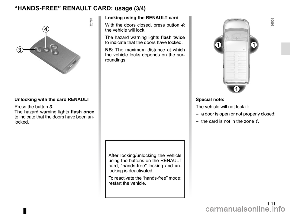 RENAULT TRAFIC 2015 X82 / 3.G Owners Manual, Page 17