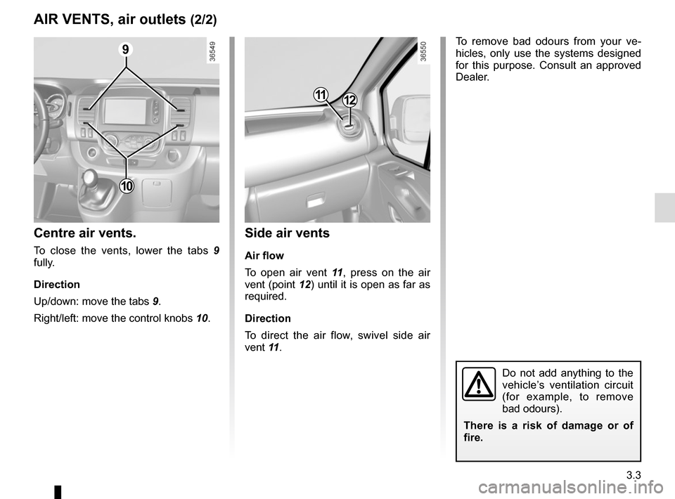 RENAULT TRAFIC 2015 X82 / 3.G Owners Manual, Page 165
