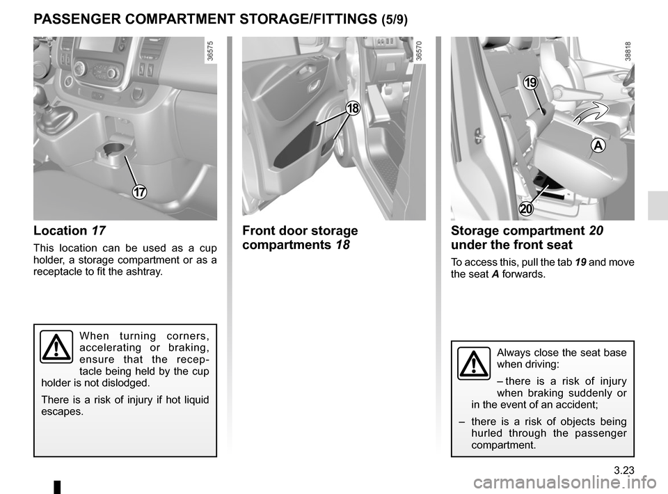 RENAULT TRAFIC 2015 X82 / 3.G Owners Manual, Page 185