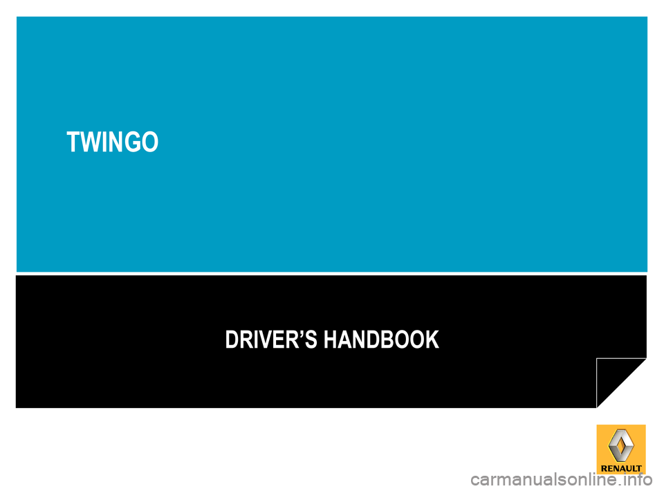 RENAULT TWINGO 2015 3.G Owners Manual, Page 1