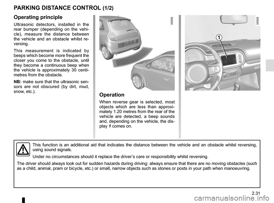 RENAULT TWINGO 2015 3.G Owners Manual, Page 105