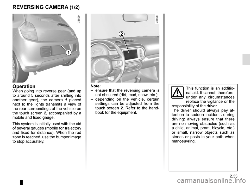RENAULT TWINGO 2015 3.G Owners Manual, Page 107