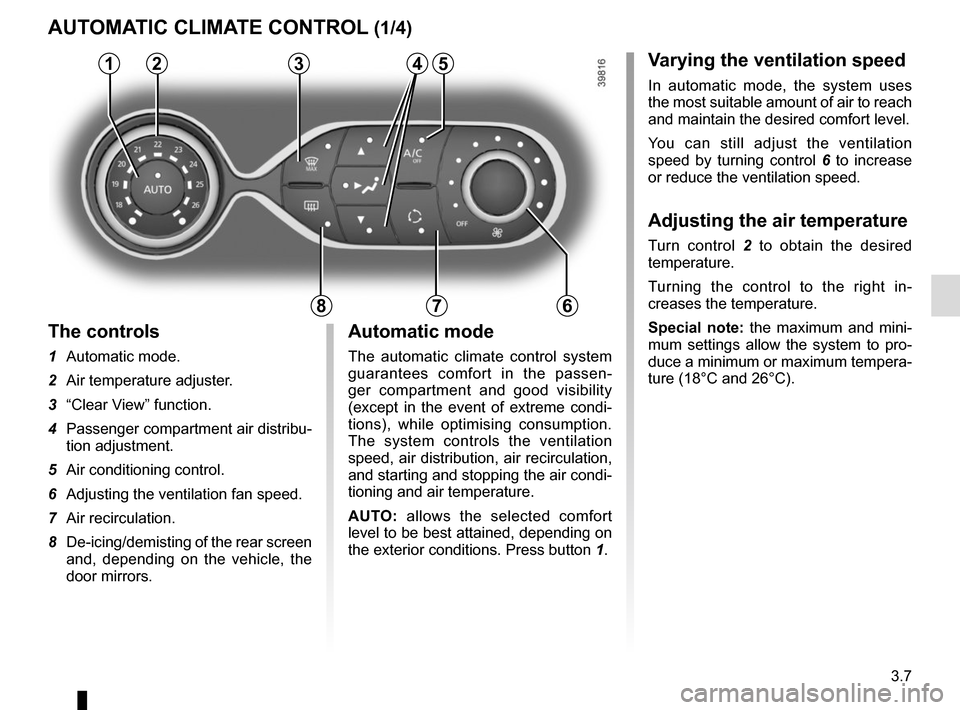 RENAULT TWINGO 2015 3.G Owners Manual, Page 119