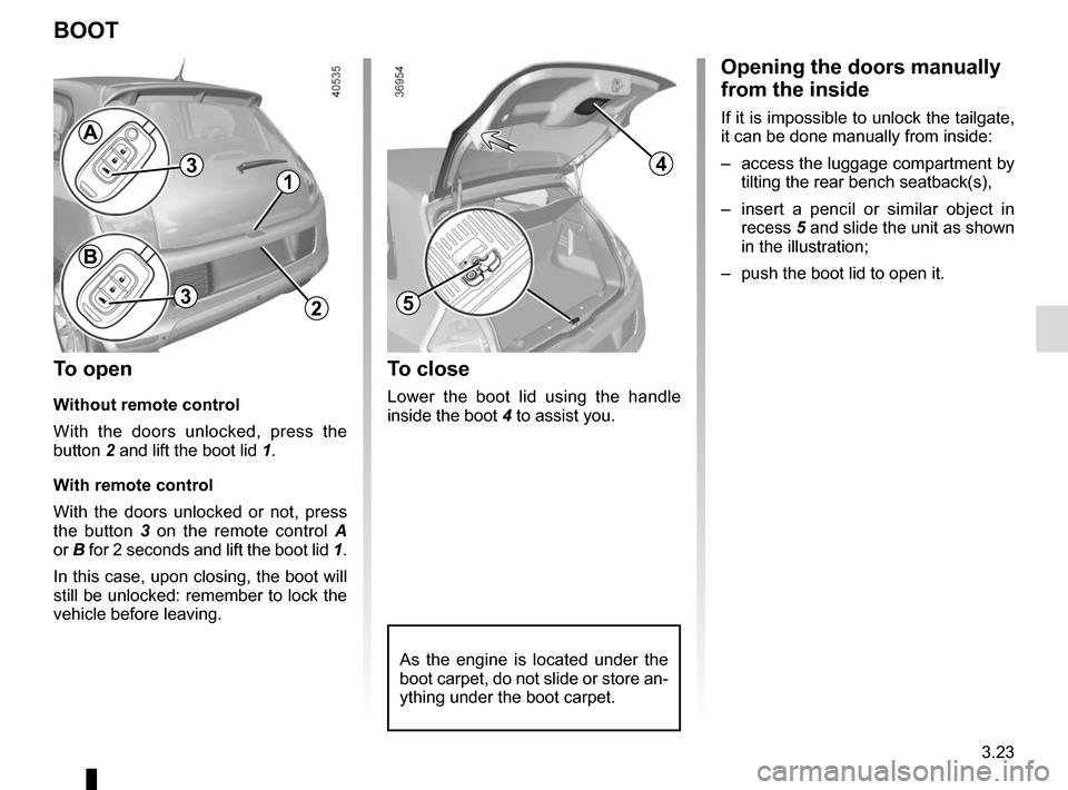 RENAULT TWINGO 2015 3.G Owners Manual, Page 135