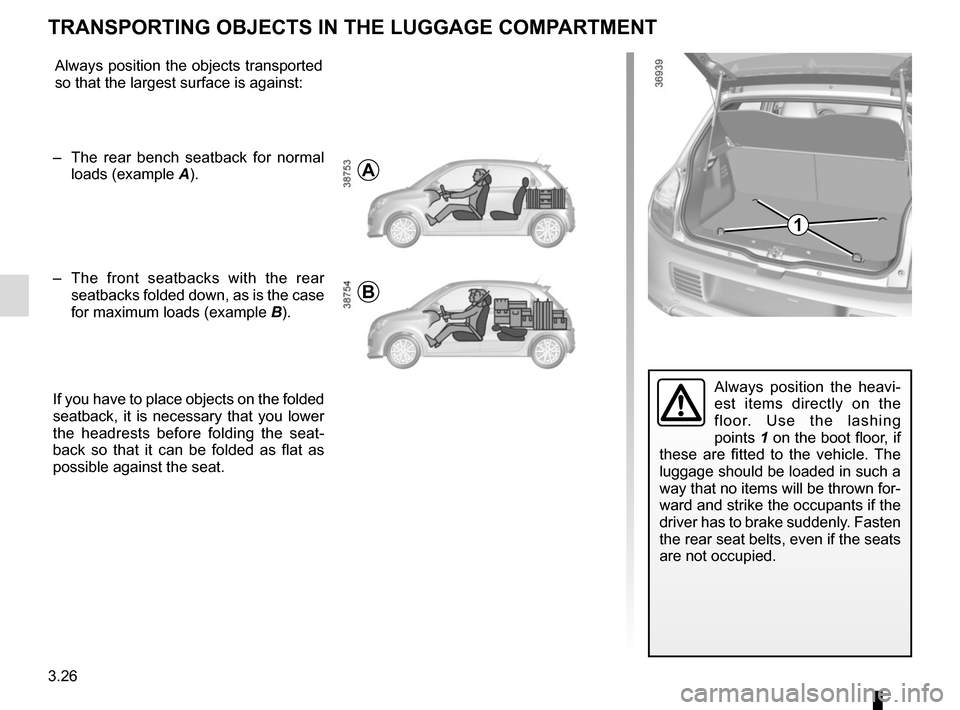 RENAULT TWINGO 2015 3.G Owners Manual, Page 138