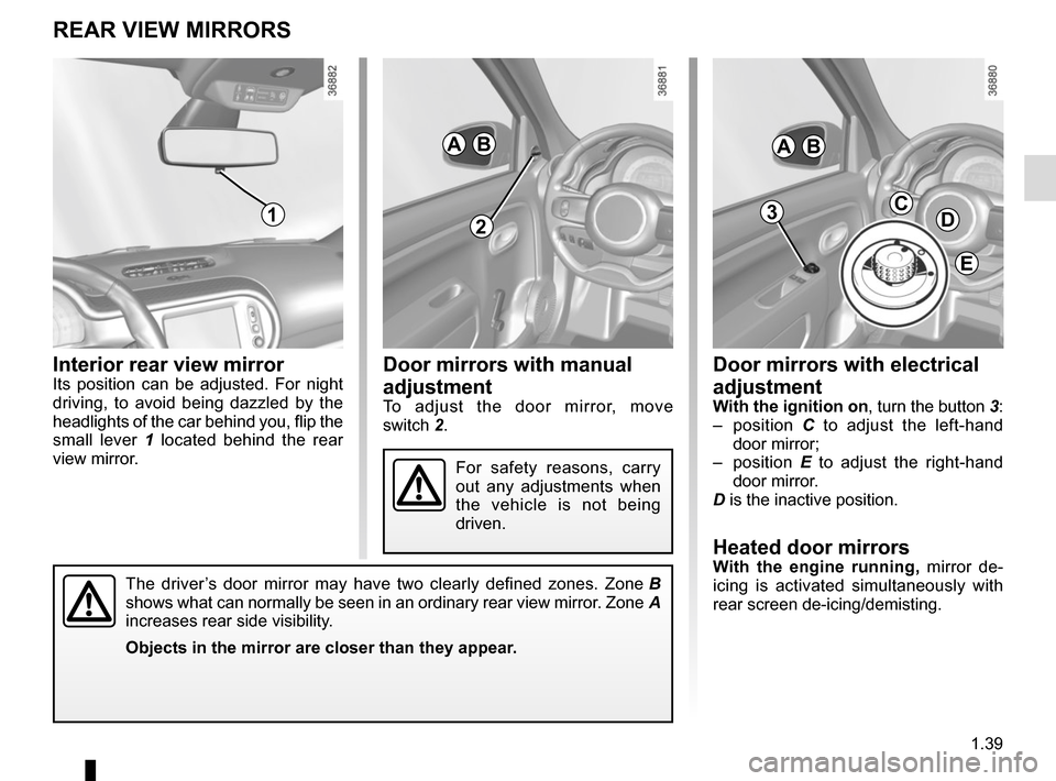 RENAULT TWINGO 2015 3.G Owners Manual, Page 45