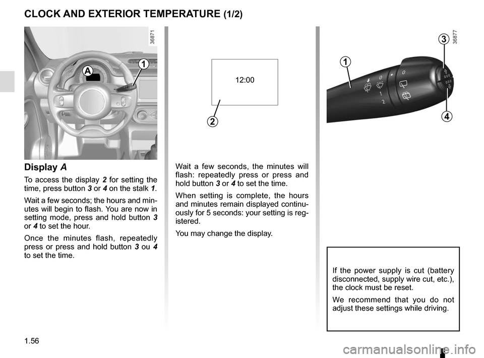 RENAULT TWINGO 2015 3.G Owners Manual, Page 62