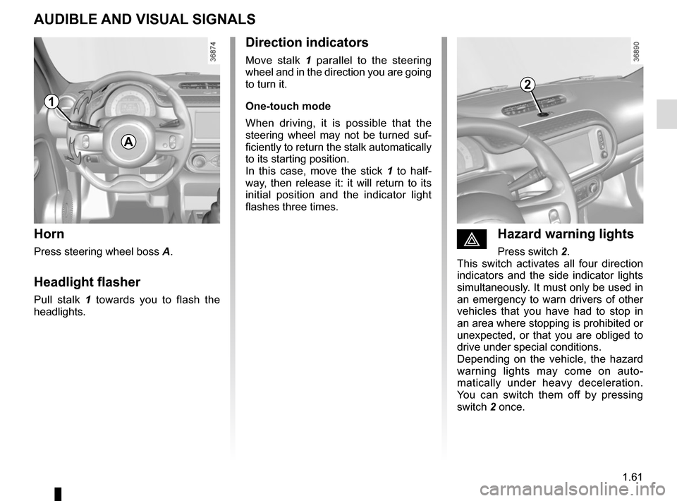 RENAULT TWINGO 2015 3.G Owners Manual, Page 67