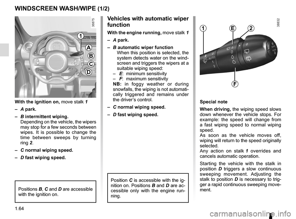 RENAULT TWINGO 2015 3.G Owners Manual, Page 70