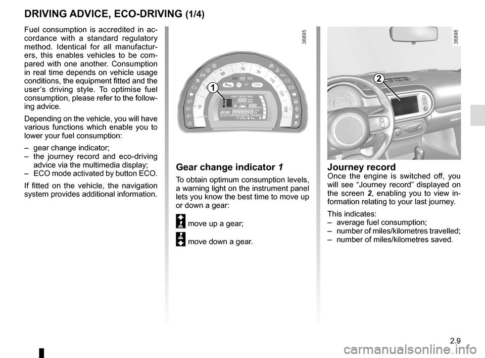 RENAULT TWINGO 2015 3.G Owners Manual, Page 83