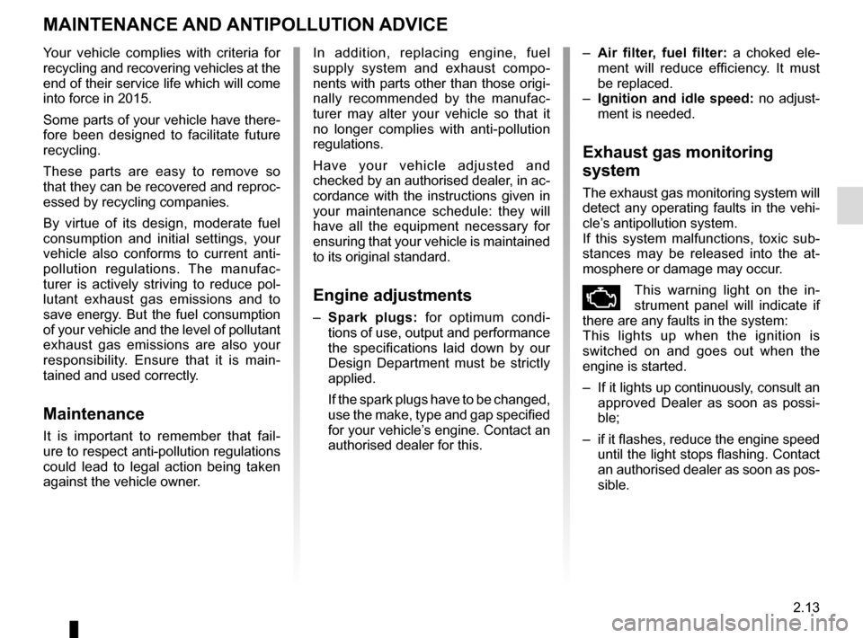 RENAULT TWINGO 2015 3.G Owners Manual, Page 87