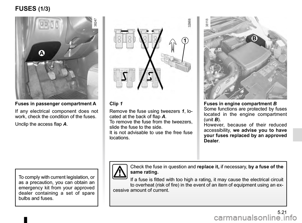 RENAULT CAPTUR 2016 1.G Owners Manual, Page 203