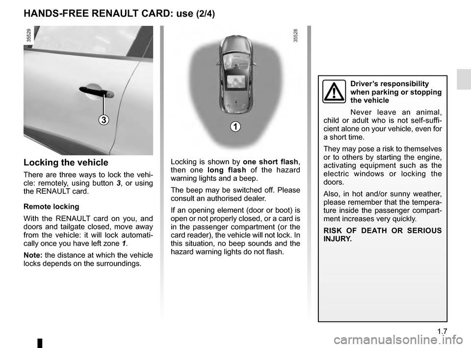 RENAULT CLIO 2016 X98 / 4.G Owners Manual, Page 13