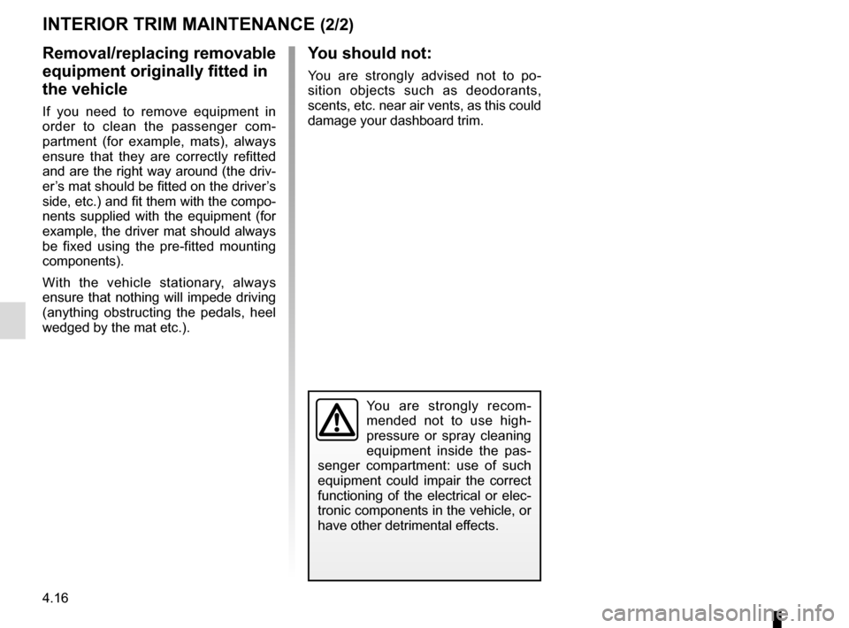 RENAULT CLIO 2016 X98 / 4.G Owners Manual, Page 184