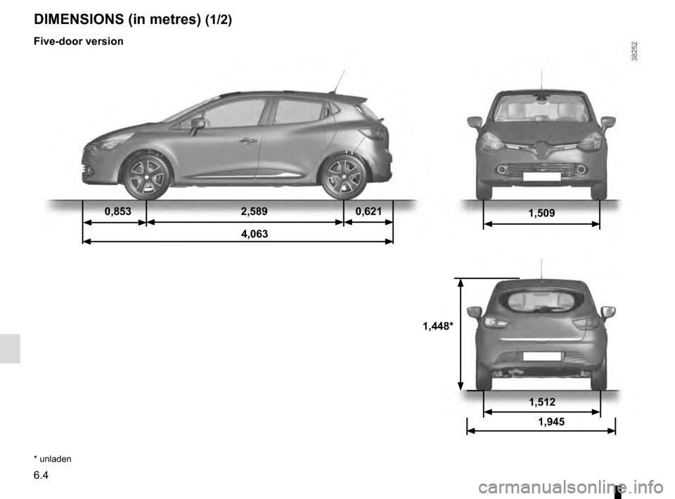 RENAULT CLIO 2016 X98 / 4.G Owners Manual, Page 234