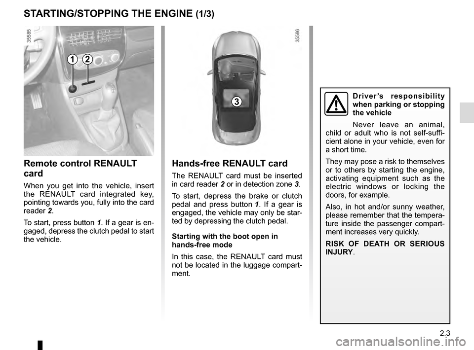 RENAULT CLIO 2016 X98 / 4.G Owners Manual, Page 95