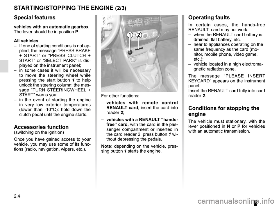 RENAULT CLIO 2016 X98 / 4.G Owners Manual, Page 96