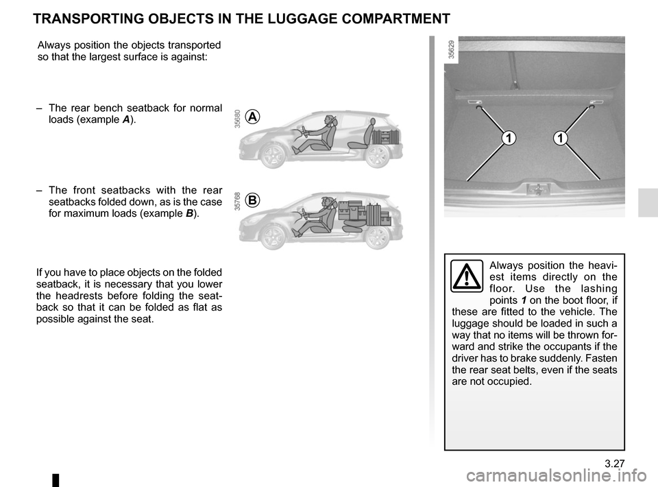 RENAULT CLIO SPORT TOURER 2016 X98 / 4.G Owners Manual, Page 163